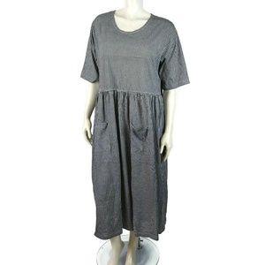 ULLA POPKEN Gingham Black White Dress 20/22